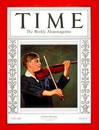 TIME Magazine Cover: Yehudi Menuhin -- Feb. 22, 1932