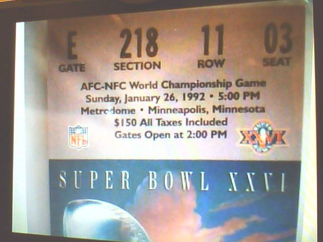 1992SuperBowlTicket