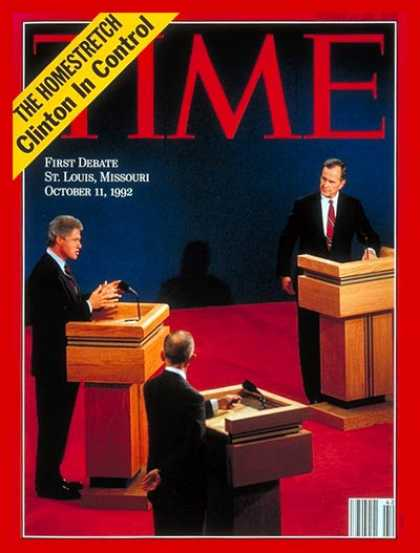 Time - Bill Clinton & George Bush - Oct. 19, 1992 - Bill Clinton - George H.W. Bush - U
